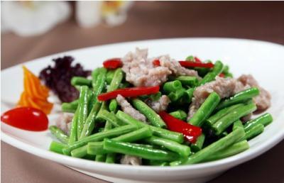 清新的豇豆――肉末炒泡豇豆