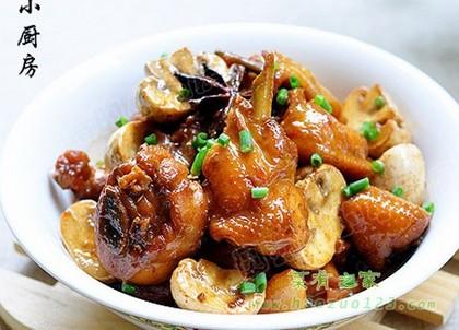 蘑菇烧鸡块