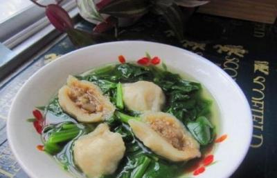 海鲜美味汤――菠菜海螺汤