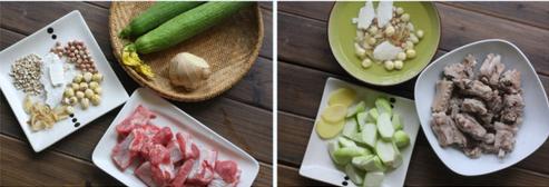 丝瓜莲子排骨汤的做法步骤1