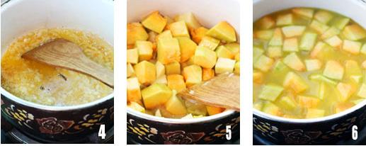 早餐的必需品――奶油南瓜浓汤的做法步骤2