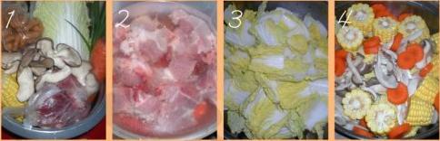 玉米白菜煮猪骨汤的做法步骤1