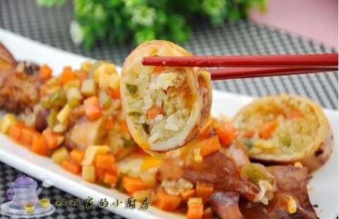 鱿鱼糯米馅的做法[有图]