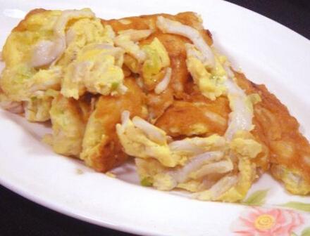 蚵仔煎炒鸡蛋的做法[有图]