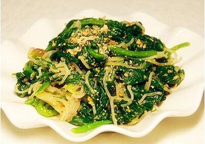 肉丝菠菜粉的制作方法