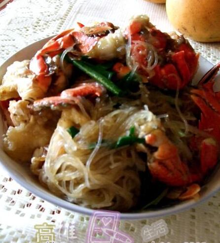粉丝炒肉蟹的做法