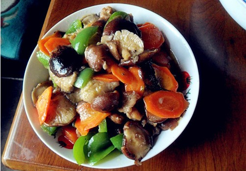 蘑菇油菜心的做法