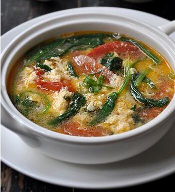 番茄鸡蛋菠菜汤的做法(图文)