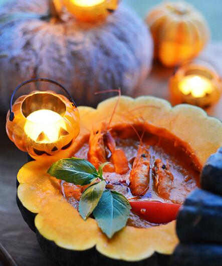 红咖喱南瓜大虾的做法(图文)