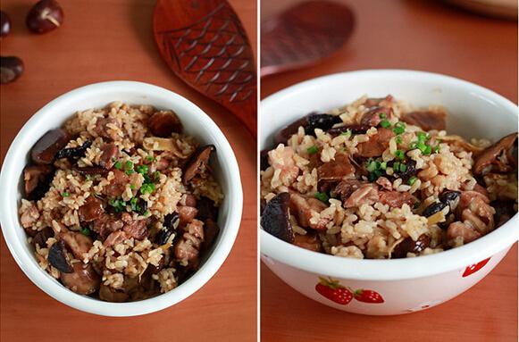 香菇栗子烧鸡饭(图文)