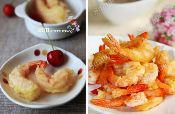 日式料理王――大虾天妇罗的详细制作图解
